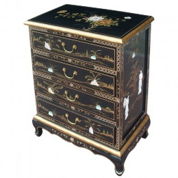 Commode noire chinoise