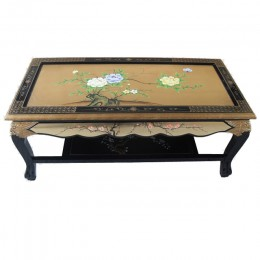 Table Basse en Laque de or Chinois