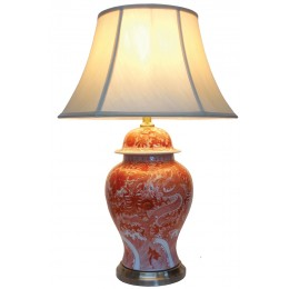 Lampe de table chinoise frappante (paire)