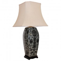 Lampe de Table Chinoise Motif Floral (Paire)