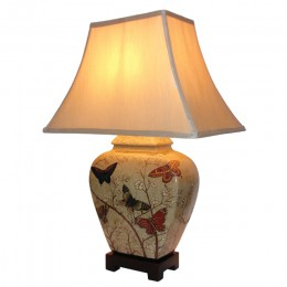 Lampe de Table Chinoise Papillon (Paire)