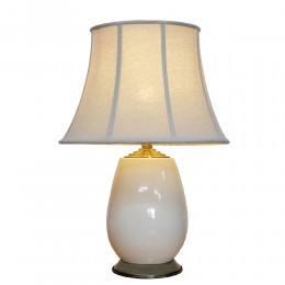 Chinese Table Lamp Ivory (Pair)