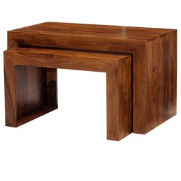 Cuba Cube sheesham nid de table