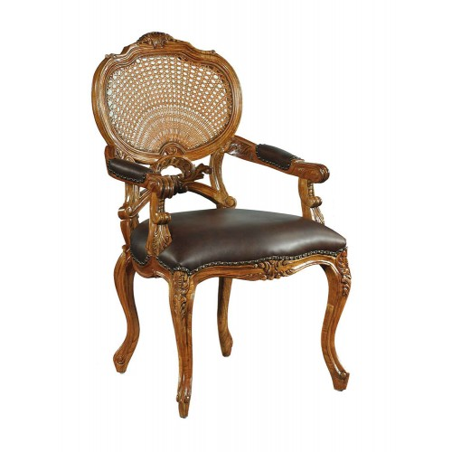 Hampton chaise en rotin de noyer 2