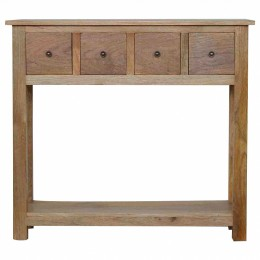 Artisan Table console 4 tiroirs