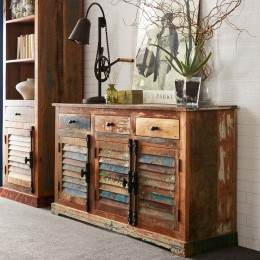 Coastal buffet large en bois