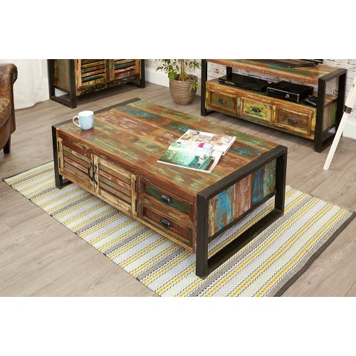 Urban Chic Tiroirs de Table Basse